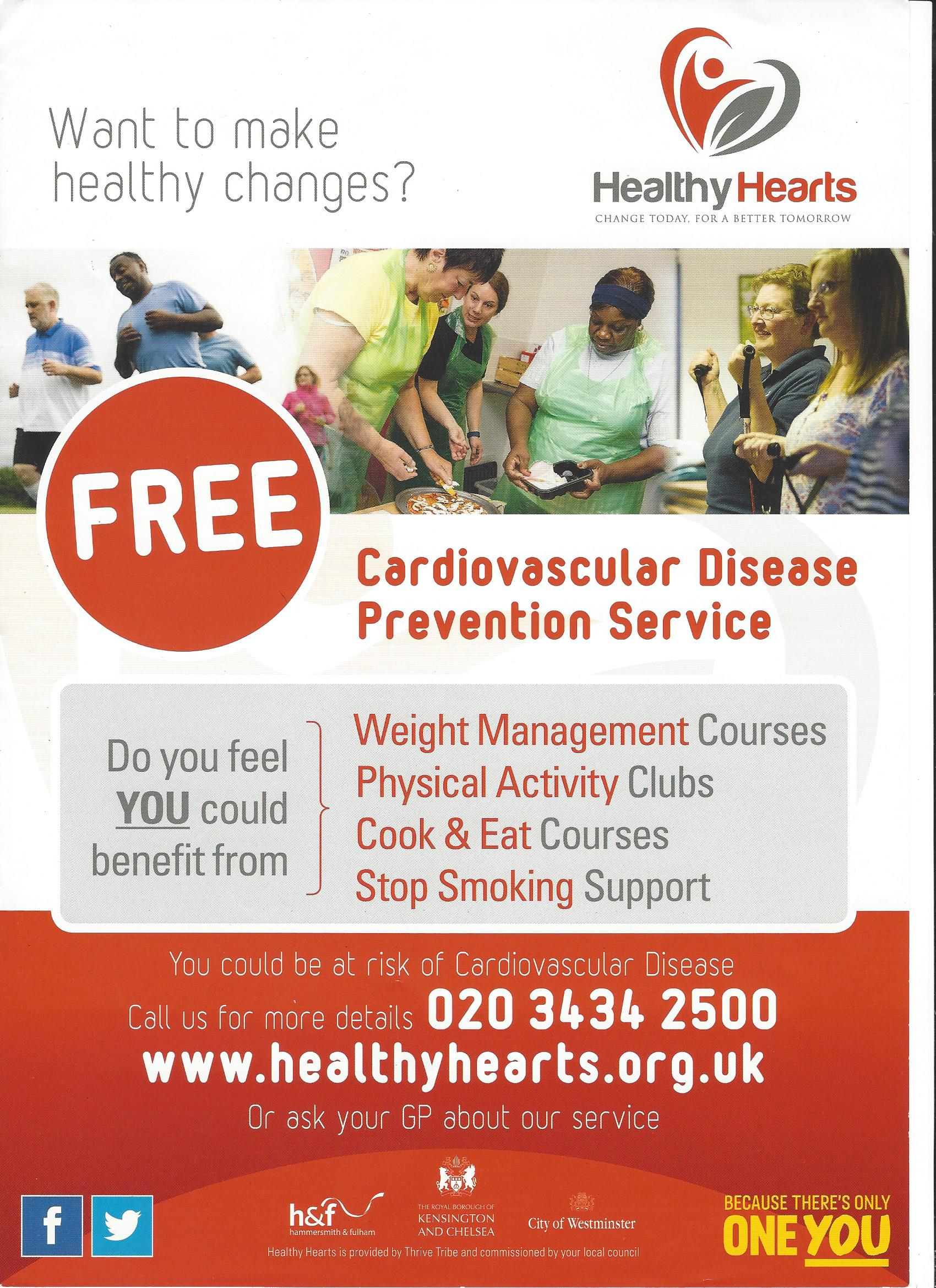 Want to make health changes? visit www.healthyhearts.org.uk